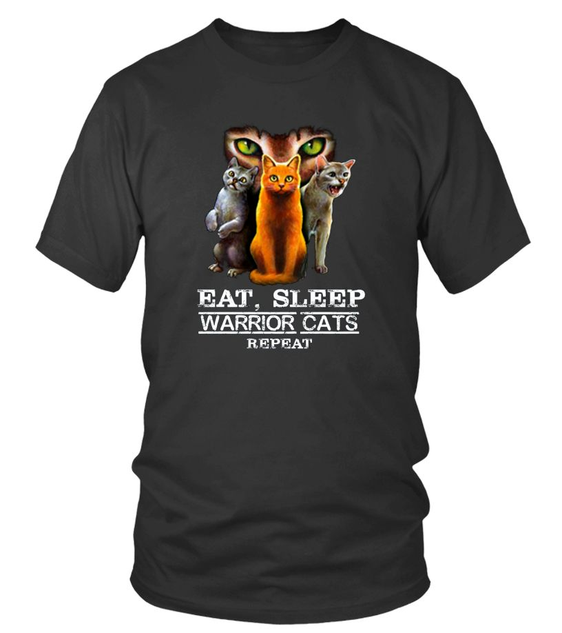 Eat Sleep Warrior Cats Repeat Funny Cat Lover Shirt T shirt