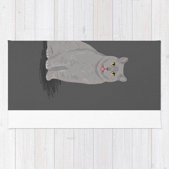 Grey cat egyptian mau cute meme cat funny grey cat breed cat lady ts must haves for cat person Rug