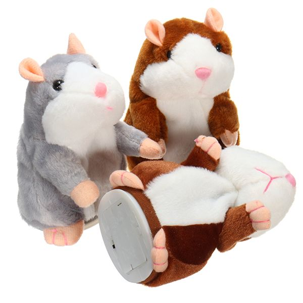 Mimicry Talking Hamster Pet 15cm Christmas Gift Plush Toy Cute Speak Sound Record Hamster Stuffed Animal Toys COD