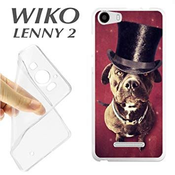 J316 Wiko Lenny 2 Shell Case TPU Dog Funny Magic