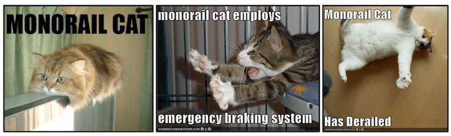 Monorail Cat is a mon reference in the LOLCat canon