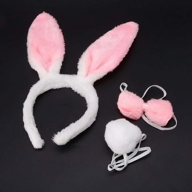 2019 New Halloween Christmas Costume Rabbit Bunny Ears Headband Funny Cute Plush Hair Band For Festival Soft Fashion Lovely Hairband S924 From Ruiqi09