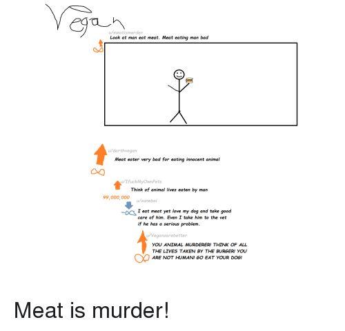 Bad Love and Taken u meatismurder Look at man eat meat