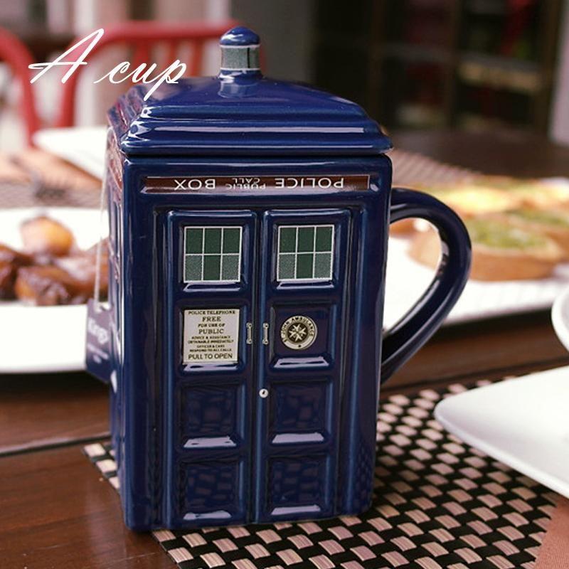 Doctor Who Tardis Creative Police Box Mug Funny Ceramic Coffee Cup Porcelain Tea Cup Zakka Novelty For fice Friend Gift Gift Mugs line Gifts In Mugs
