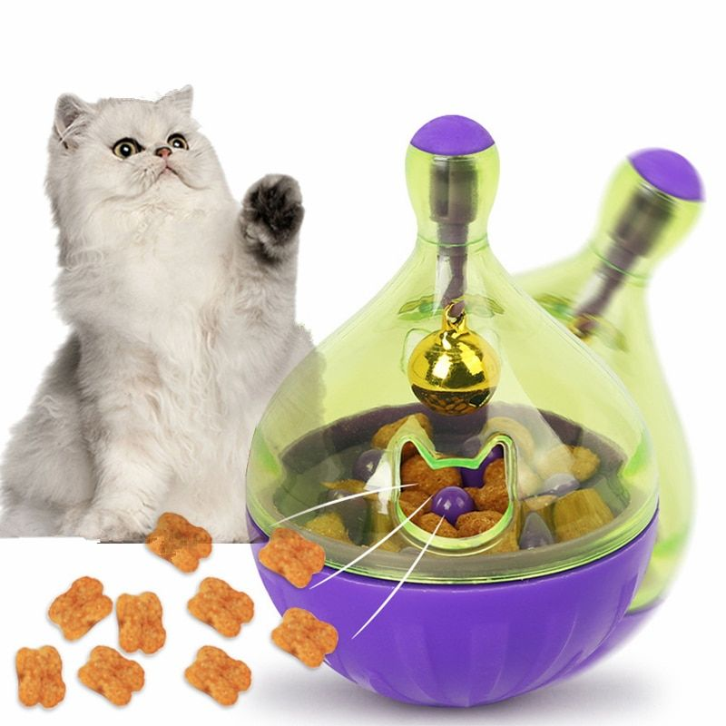 Interactive Dog Cat Food Treat Ball Bowl Toy Funny Pet Shaking Leakage Food Container Puppy Cat
