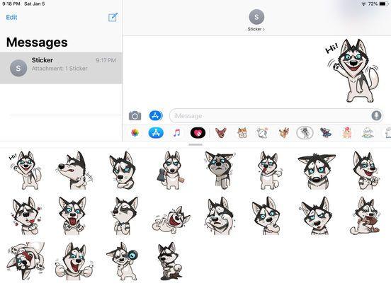 Screenshot 1 for Husky Dog Funny Stickers
