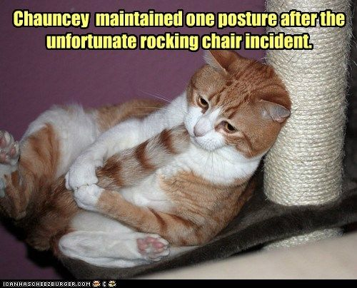 chair fetal position hurt incident ow pain rocking chair tail