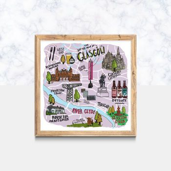 The Little Map Glasgow Illustrated Print