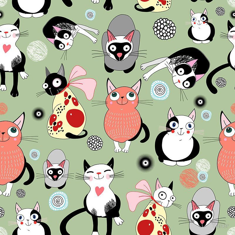 FREE printable cat pattern tile