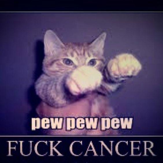 pew pew fuck cancer meme