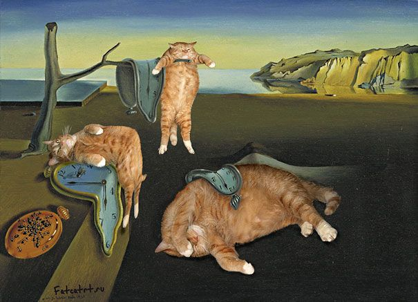 funny fat cat old paintings zarathustra svetlana petrova