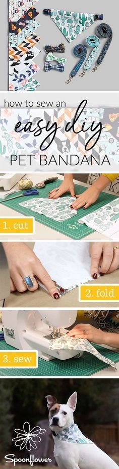 See How to Sew an Easy Pet Bandana