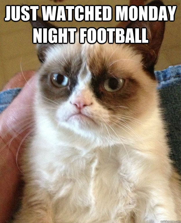 just watched Monday Night Football just watched Monday Night Football Grumpy Cat