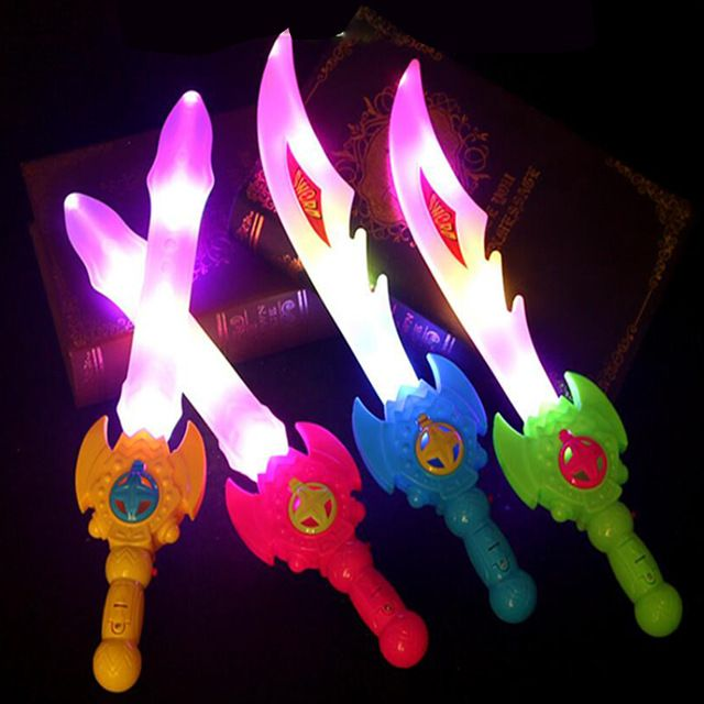 Glow In The Dark Cosplay Prop Saber Seven Color Shine Children s Outdoors Luminous Lightsaber Toys Boy Gril Flash Gift Led Toy
