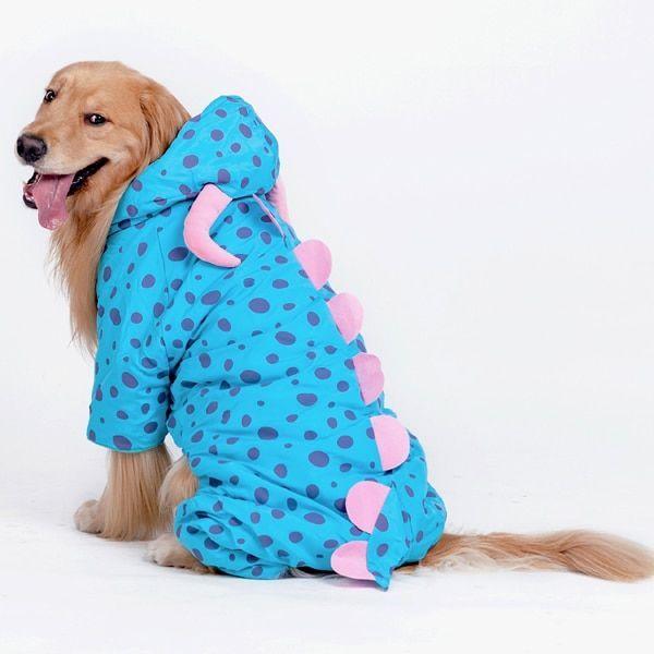 Waterproof Jacket Dog Rain Poncho Rain Coat for Medium to Dogs for Golden Retriever Samoyed Akita
