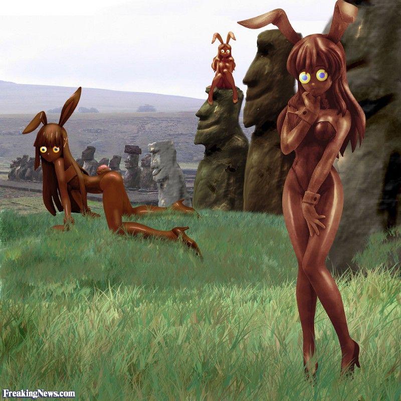 The Chocolate Bunnies of Easter Island