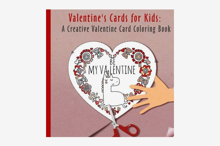 Valentines Cards for Kids A Creative Valentine Card Exchange Coloring Book