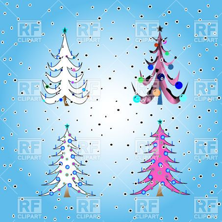 Stylized funny christmas trees Vector Image – Vector Illustration of Plants and Animals © robertosch to Zoom