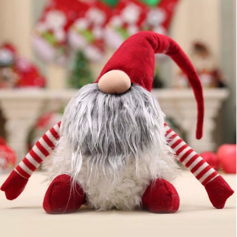 2018 New Swedish Christmas tomte nisse Santa Claus Decoration Plush Xmas Funny Gnome Plush Christmas Kids Gift TQ in Pendant & Drop Ornaments from Home