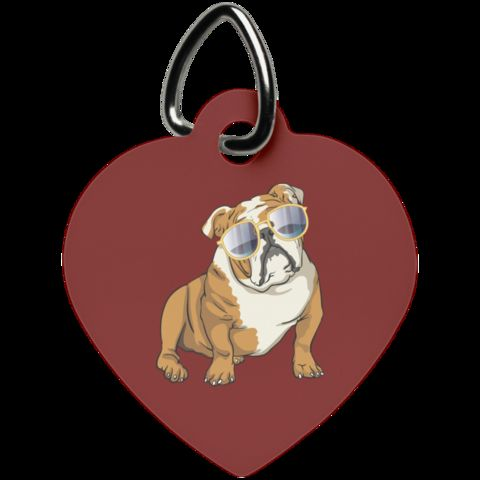 Bulldog Sunglasses Funny Pet Dog Tag Cat Gifts for Dog Puppy Lovers AmazingProductsCo