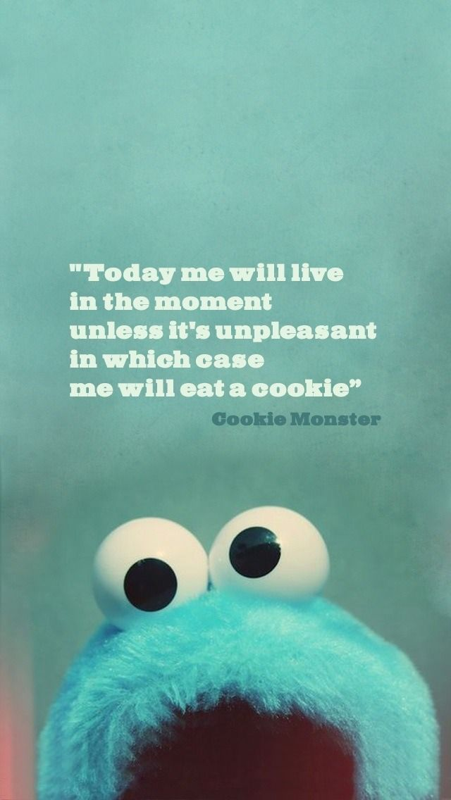 Oh Cookie Monster h Positive Quotes Inspiration