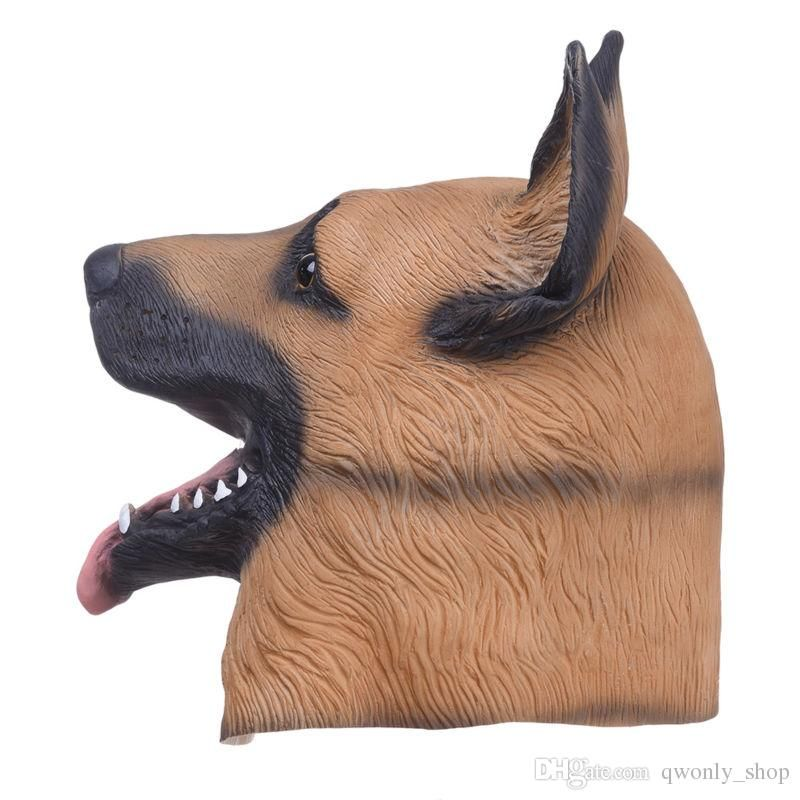 Animal Dog Head Full Face Latex Party Mask Halloween Dance Party Costume Wolfhound Masks Theater Toys