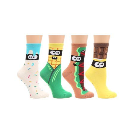 MIRMARU MIRMARU Women s 4 Pairs Animal Cute Funny Novelty Casual Cotton Crew Socks OD W 055 Walmart