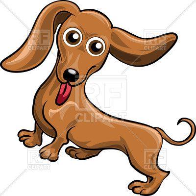 Funnycartoon dog dachshund Vector Image – Vector Illustration of Plants and Animals © gertot1967