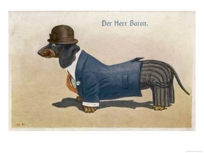 dachshund dressed as a man u L OU14K0