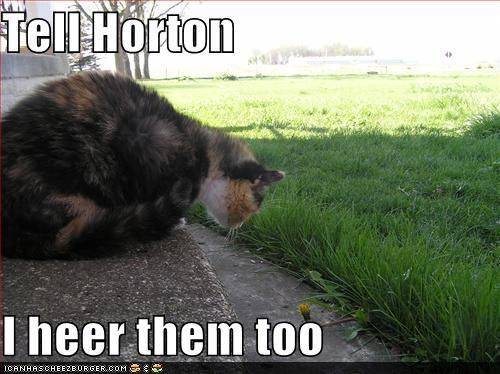 Literary cats Horton Hears a Who