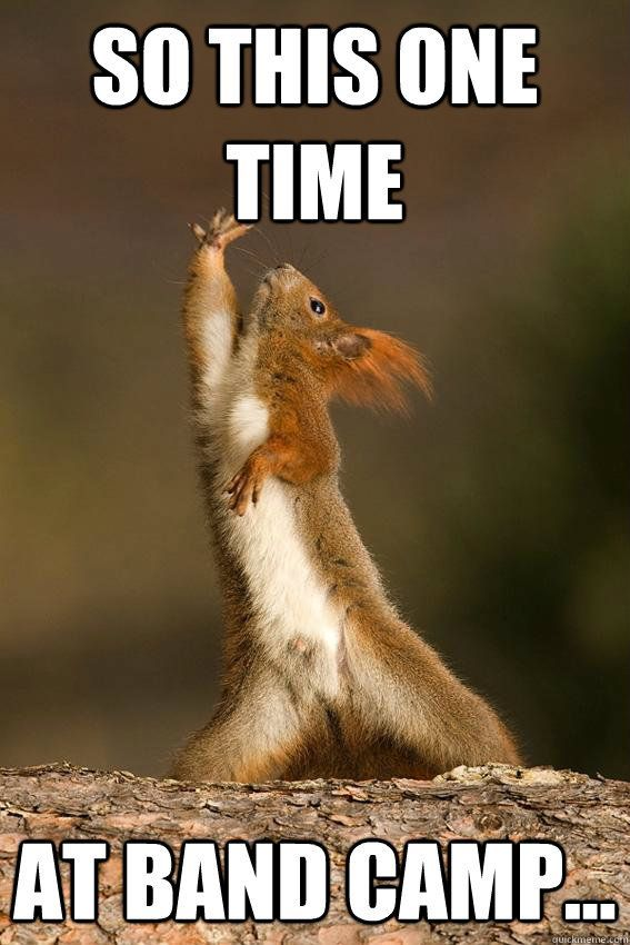 So this one time at band camp Shakespeare Squirrel quickmeme