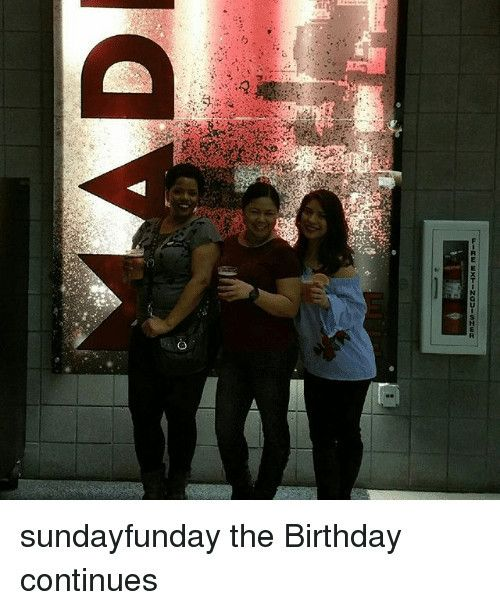 Happy Birthday Girl Meme O D Sundayfunday The Birthday Continueshappy Birthday Girl Meme Funny Dog