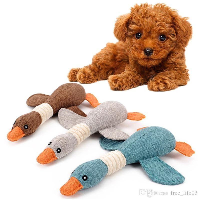A toy Dog Luxury 2018 Plush Pet Dog Chew toys Cute Wild Goose Design Puppy Cats