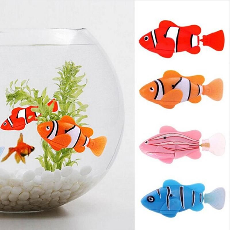 Funny Swim Electronic Robofish Battery Powered Robot Toy Fish Pet For Fishing Tank Decorating Fish LA Old Electronic Pet Games Electric Doggy Door