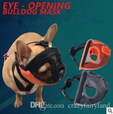 2019 Short Snout Muzzles Bulldog Mesh Eye Opening Bulldog Mask Short Nose Dog Masks Breathable Dog Muzzle For Dog Bite Proof Mouthpiece From Crazyfairyland