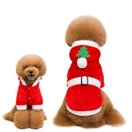 HUIBAOTONG Christmas Pet Clothes Funny Pet Dog Cute Cat Christmas Costume Pet Clothes Xmas Tree